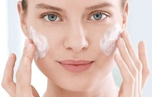 Cleanse your skin with micellar water for acne