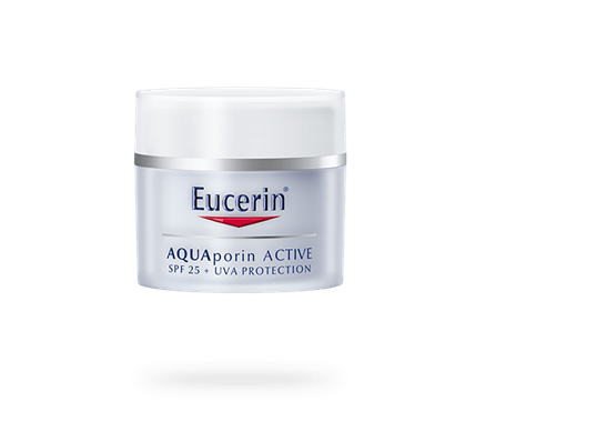 Eucerin AQUAporin ACTIVE with SPF 25 and UVA protection for all skin types